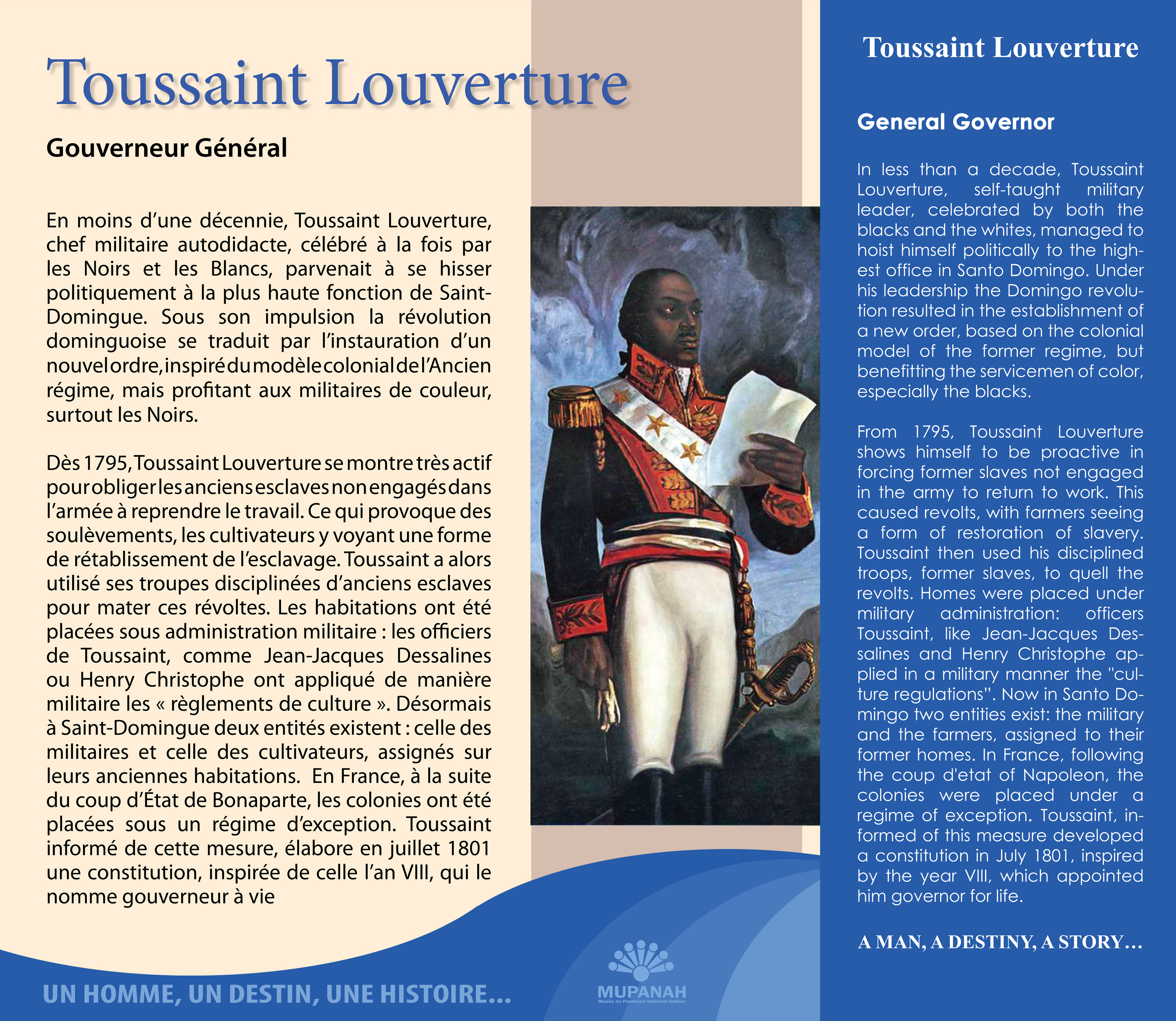 the life and accomplishments of toussaint louverture Toussaint l'ouverture dies also toussaint bréda, toussaint-louverture and wrote a constitution naming himself governor-for-life that established a new.